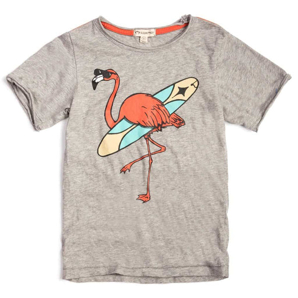 Hang Three Flamingo Tee | Heather Mist