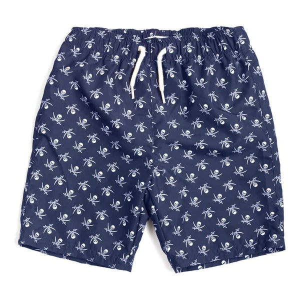 Mid Length Swim Trunks | Crossbones