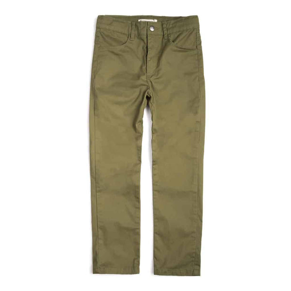 Skinny Twill Pant | Garden Green
