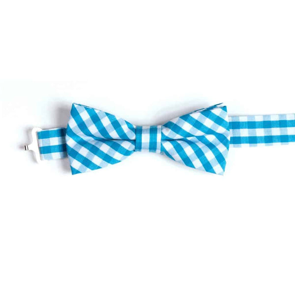 Bow Tie | Teal Gingham