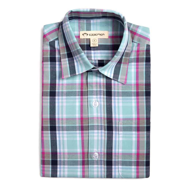 The Standard Shirt | Mint Plaid