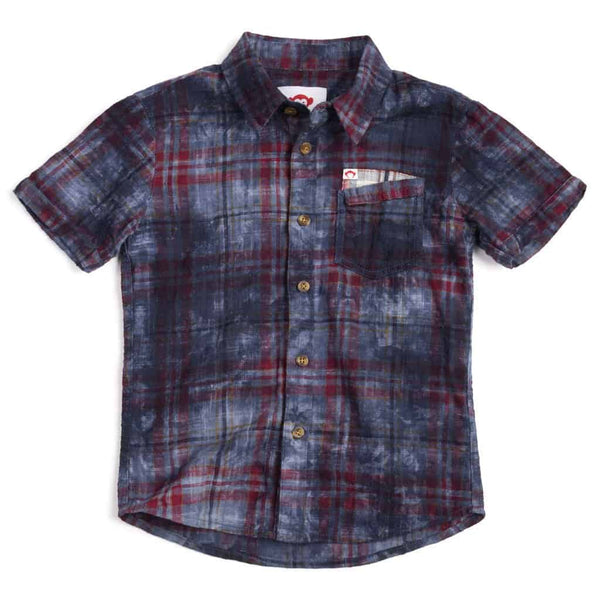 Mossman Shirt | Deep Water Plaid