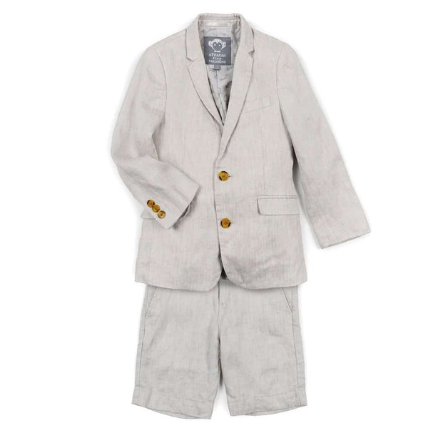 Linen Mod Suit Short Set