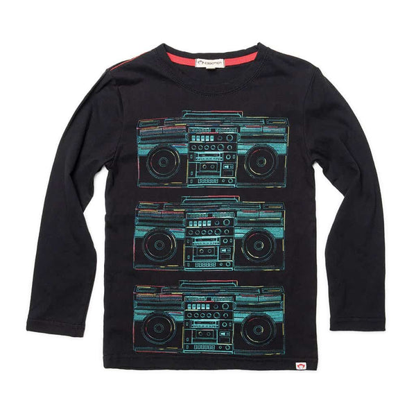 Boombox Graphic Tee | Black