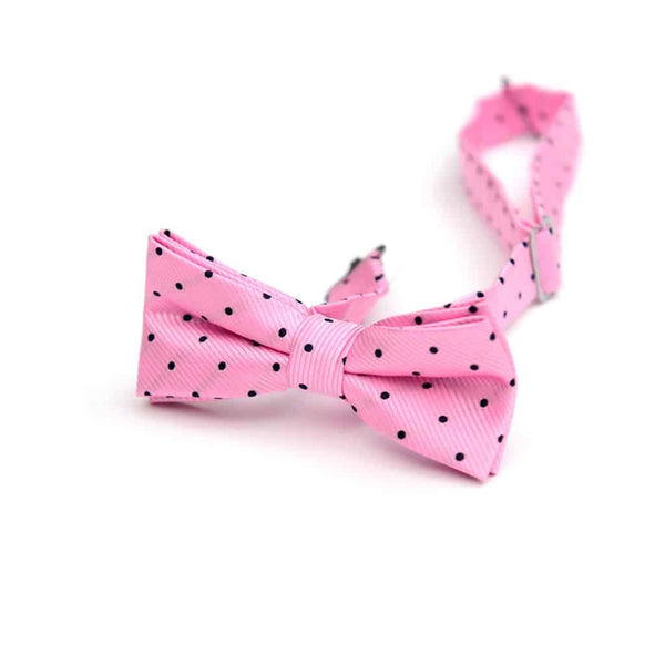 Bow Tie | Pink Navy Dots
