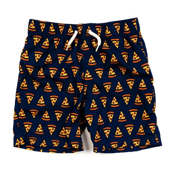 Mid Length Swim Trunks | Pizza Party