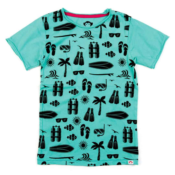 Sea Excursion Graphic Tee | Turquoise