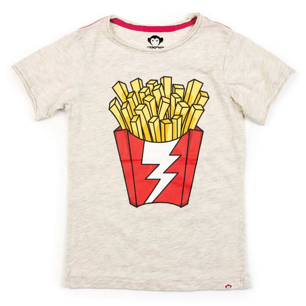 Shazam Fries Graphic Tee | Cloud Heather