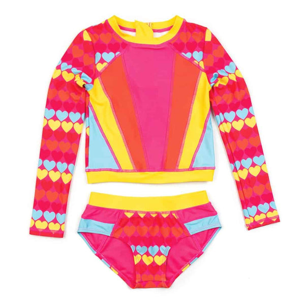 Solana Rash Guard Set | Rainbow Hearts