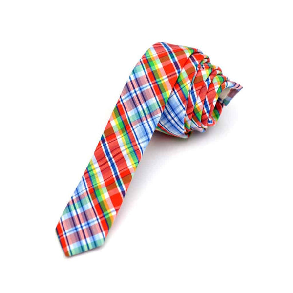 Tie | Firecracker Plaid