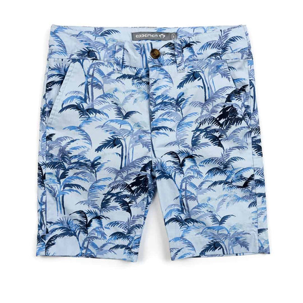 Trouser Short | Blue Palms