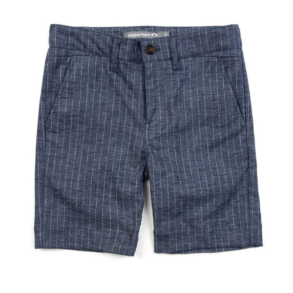 Trouser Short | Chambray Stripe