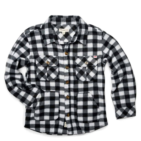 Snow Fleece Shirt | Black/White Check