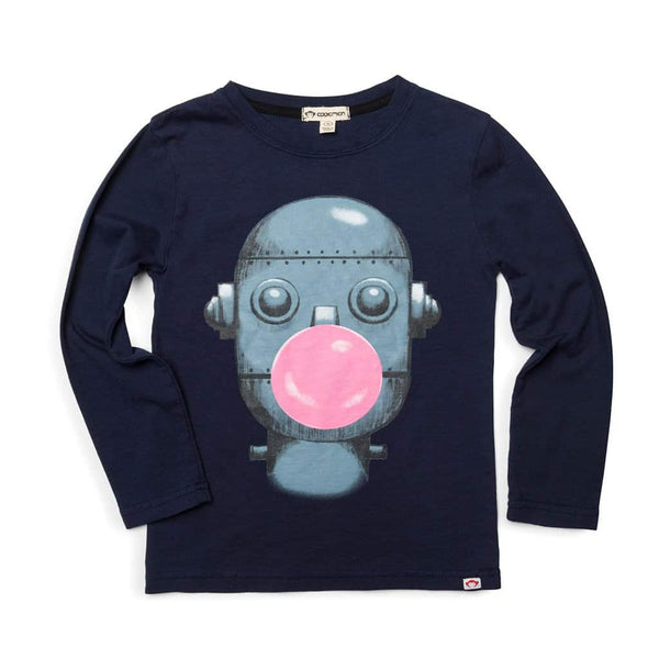 Bubble Bot Graphic Tee | Peacoat