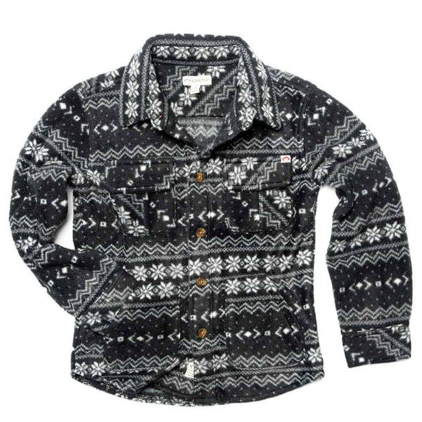 Snow Fleece Shirt | Black Fair Isle