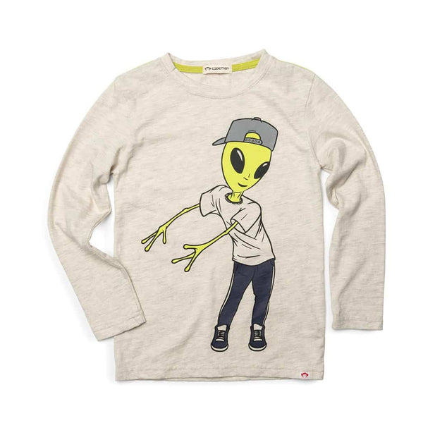 Alien Floss Graphic Tee | Cloud Heather