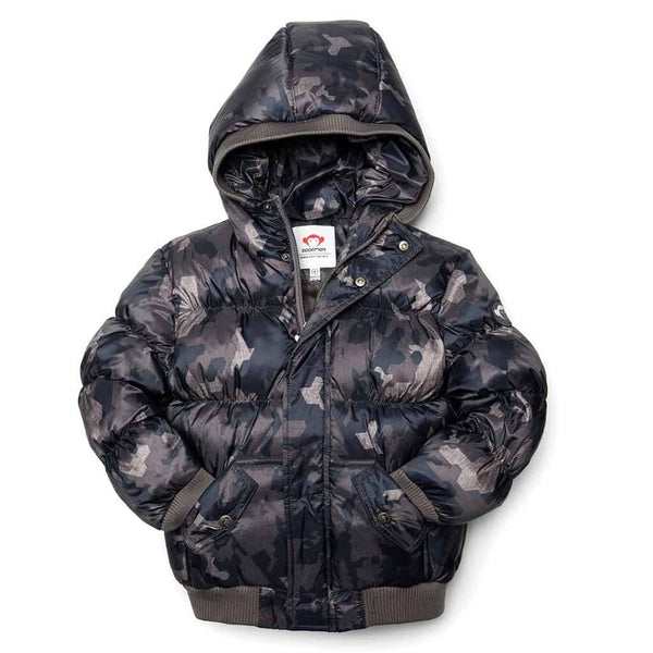 Puffy Coat | Abstract Camo