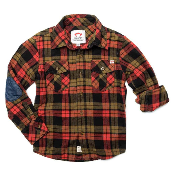 Flannel Shirt | Paprika Plaid