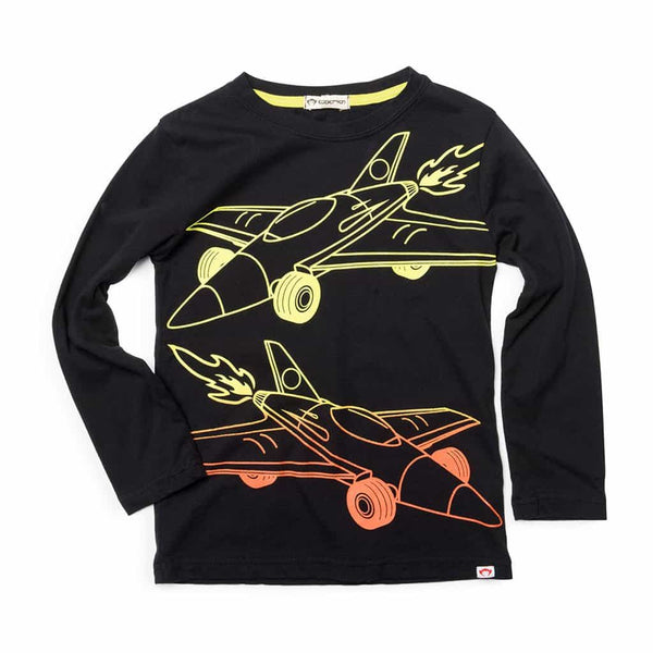 Space Race Graphic Tee | Black
