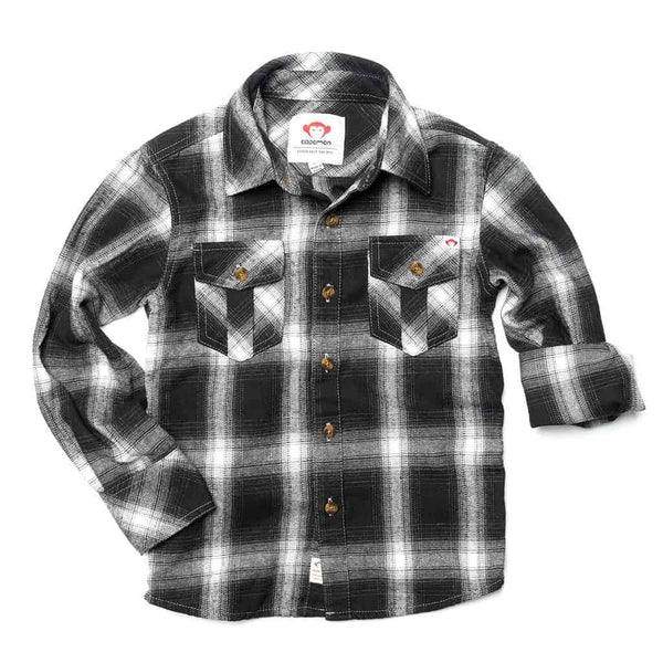 Flannel Shirt | Greyscale Plaid