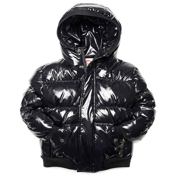 Puffy Coat | Shiny Black
