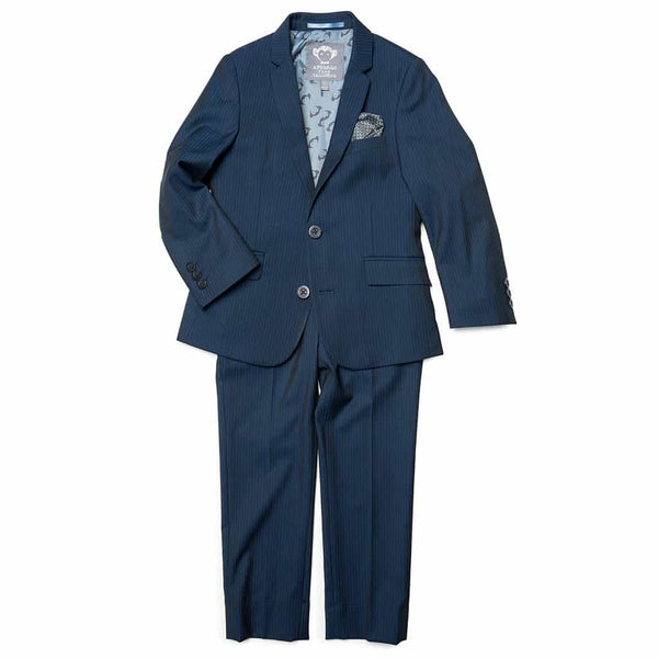 Mod Suit | Navy Pencil Stripe
