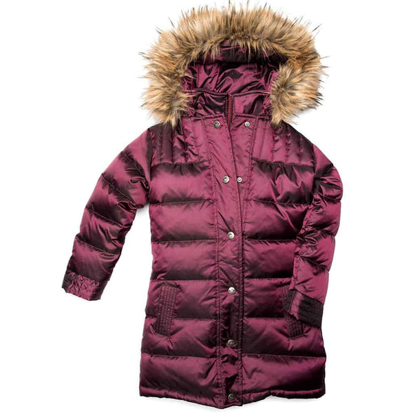 Long Down Coat | Cranberry