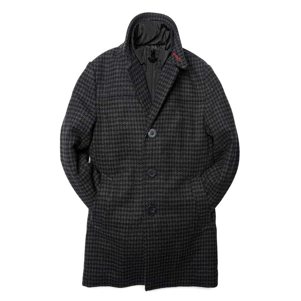 City Overcoat | Black Houndstooth