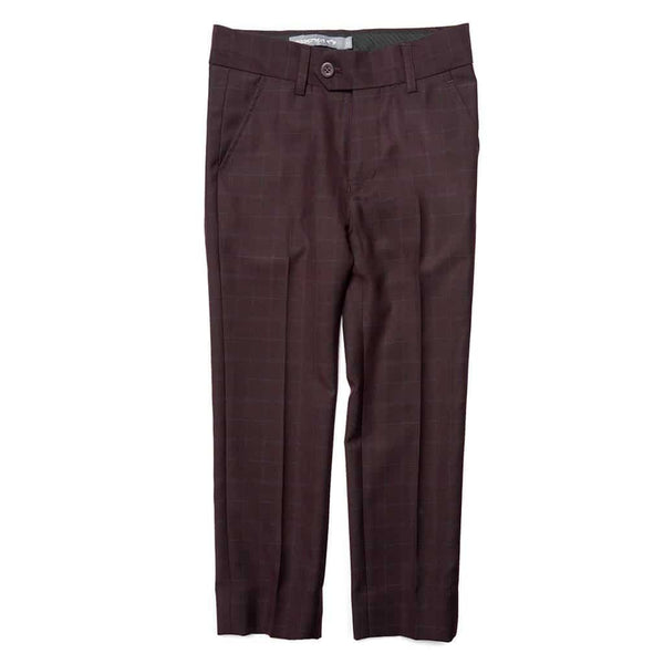 Suit Pant | Burgundy Plaid