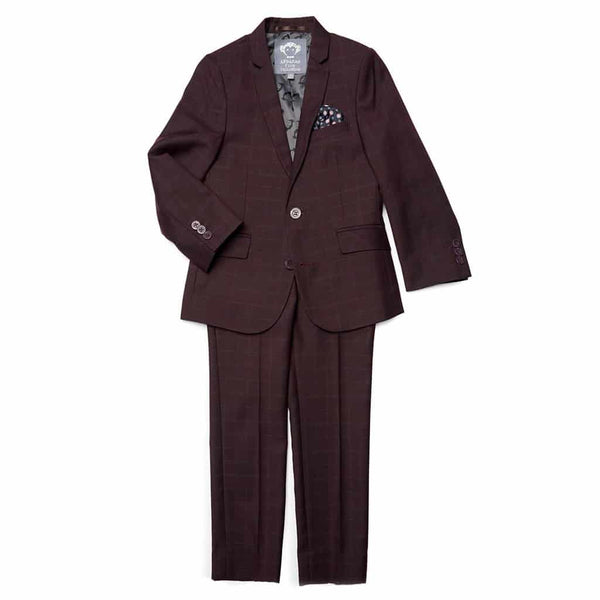 Mod Suit | Burgundy Plaid
