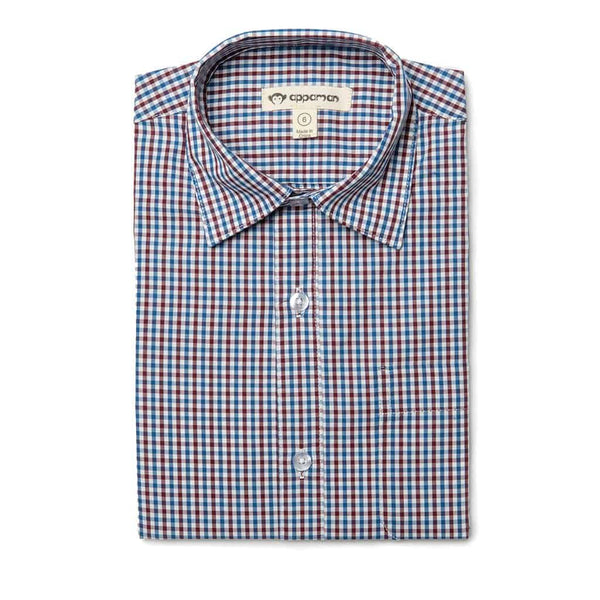 The Standard Shirt | Burgundy Blue Gingham