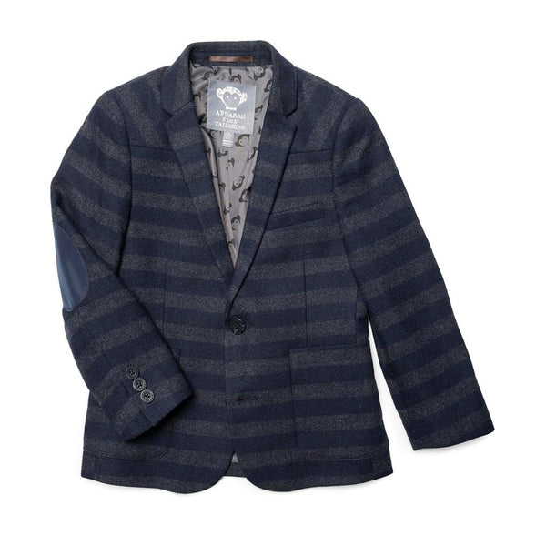 Professor Blazer | Navy Grey Stripe
