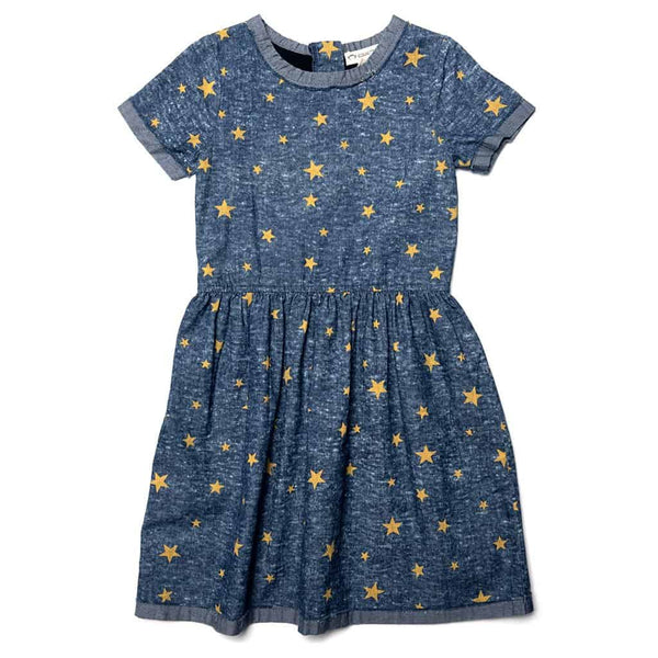 Maisy Dress | Gold Stars