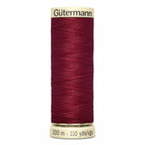 Fil Rouge bordeaux 100m - Tout usage -100% Polyester - Gutermann