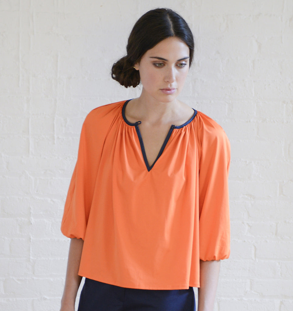PEASANT BLOUSE ORANGE