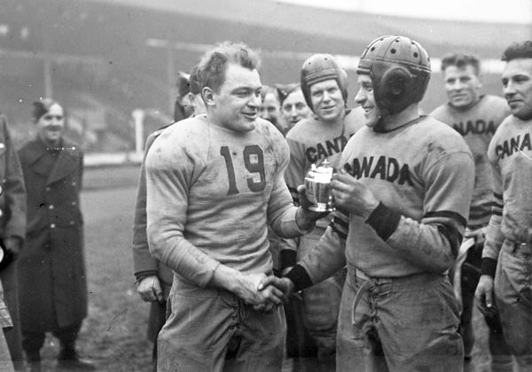 Canada Football Team, White City Stadium, London, England 1944. - Province of Canada