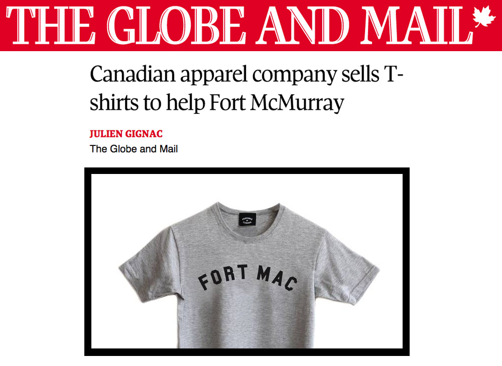Province of Canada - Fort Mac Tee - Globe and Mail