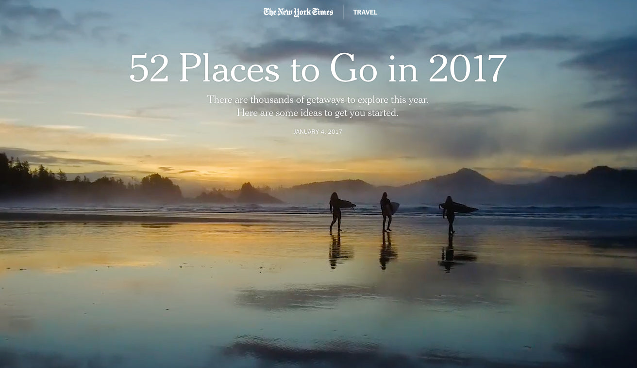 Province of Canada - The New York Times - Places to Go 2017 - Canada