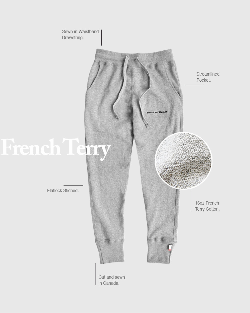Province of Canada - Sweatpant Guide - Made in Canada Sweatpants