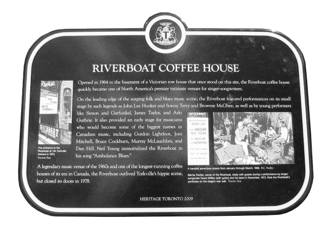 Province of Canada - Toronto's Historic Plaques - Riverboat Coffee House