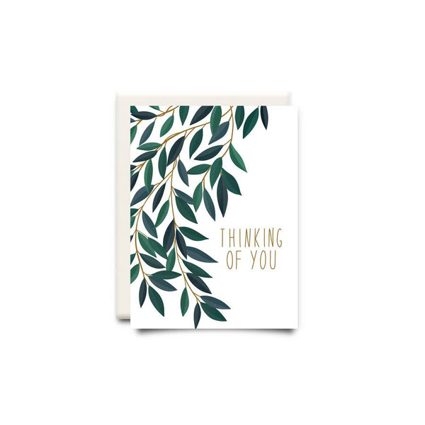 Thinking of You Leaves Greeting Card - Made in Canada - Province of Canada