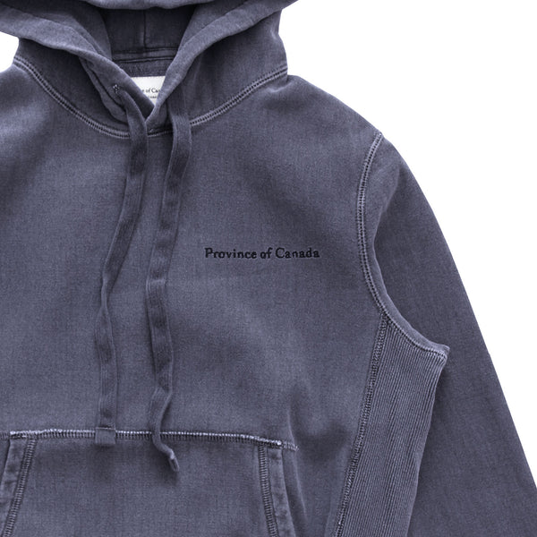 Province of Canada - Cross Grain Hoodie Washed Indigo - Unisex - Made in Canada