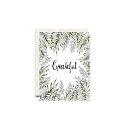 Grateful Greeting Card - Made in Canada - Province of Canada