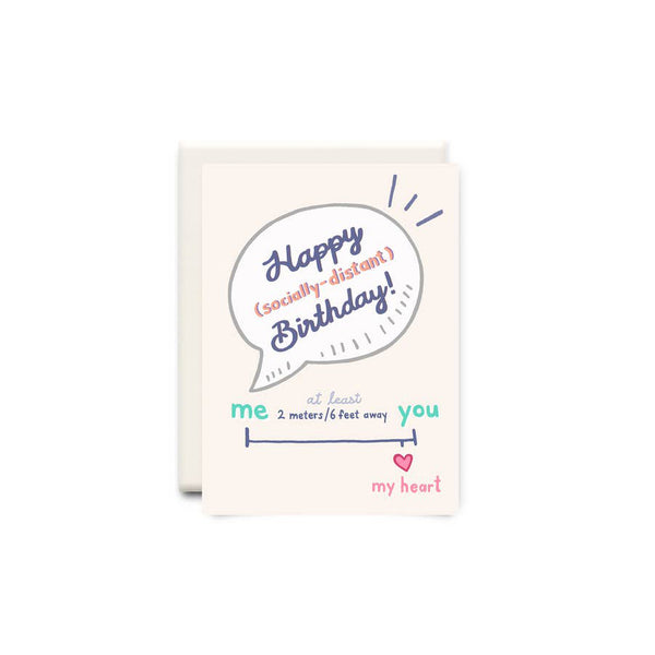 Socially Distant Birthday Greeting Card - Made in Canada - Province of Canada