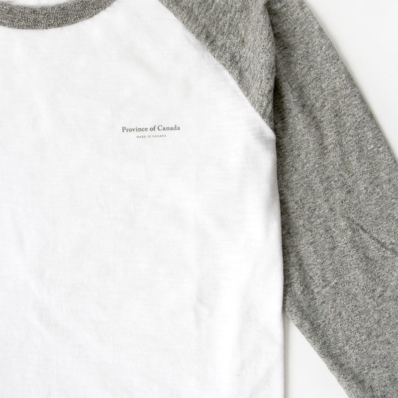 Province of Canada - Made in Canada - Baseball Tee Heather Grey and White - Unisex