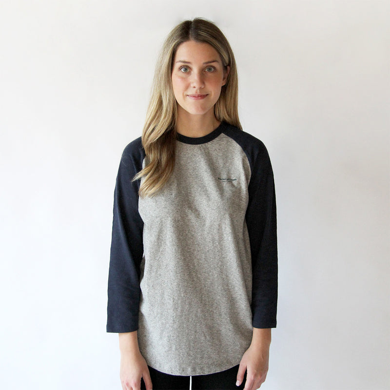Province of Canada - Made in Canada - Baseball Tee Navy and Heather Grey - Unisex