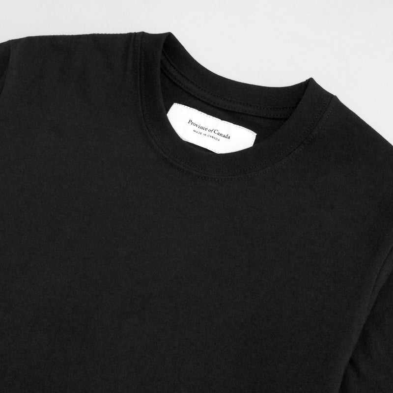 Monday Crop Top Tee Black - Made in Canada - Province of Canada