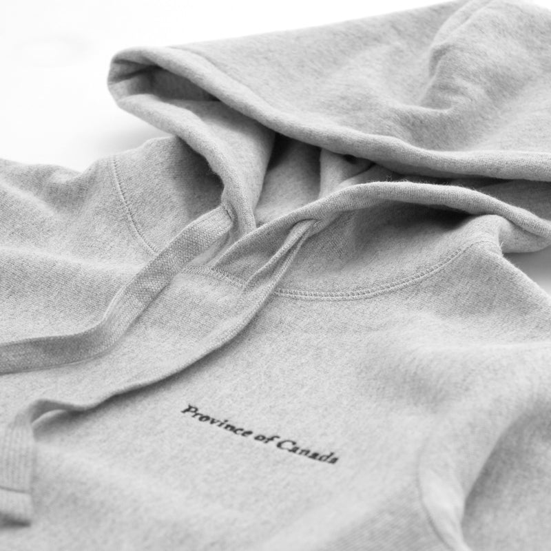 Province of Canada - Cross Grain Hoodie Heather Grey - Made in Canada