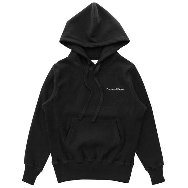 Province of Canada - Cross Grain Hoodie Black - Made in Canada