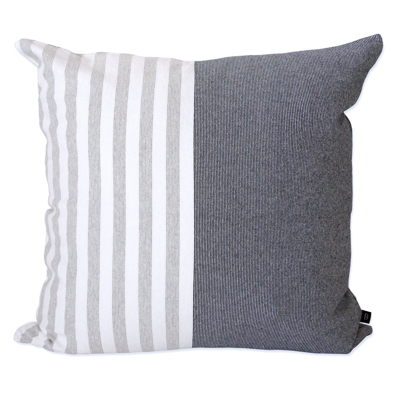 Cape Cotton Cushion Navy and Ash - Made in Canada